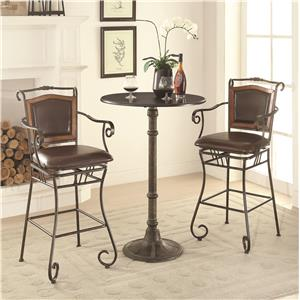 Coaster Oswego Pub Table Set with Bar Stools