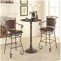 Coaster Oswego Round Bar Table