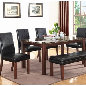 Coaster Otero Table & Chair Set with Bench