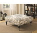 Coaster Ottomans Embroidered Ottoman with Casters and Nailhead Trim