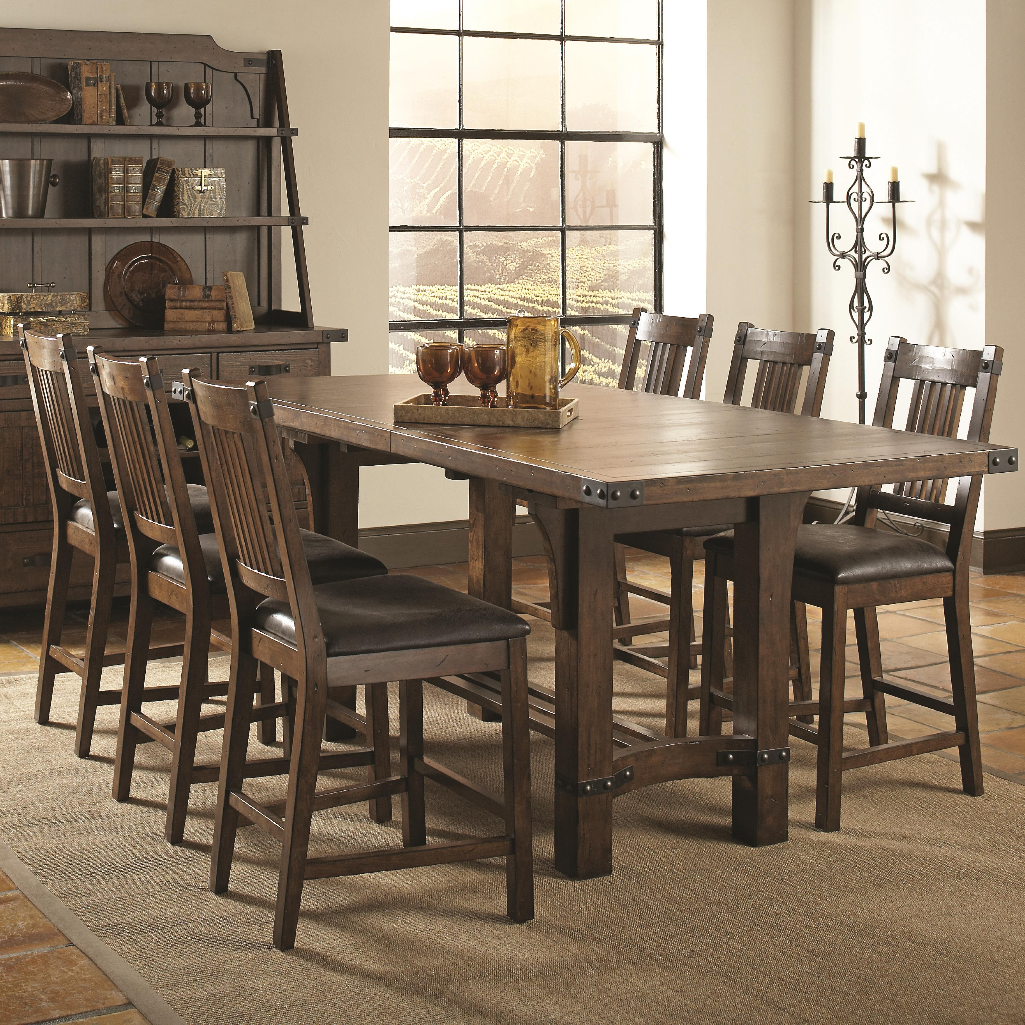 Coaster Padima 7 Pc Counter Height Dining Set - Item Number: 105708+6X105709