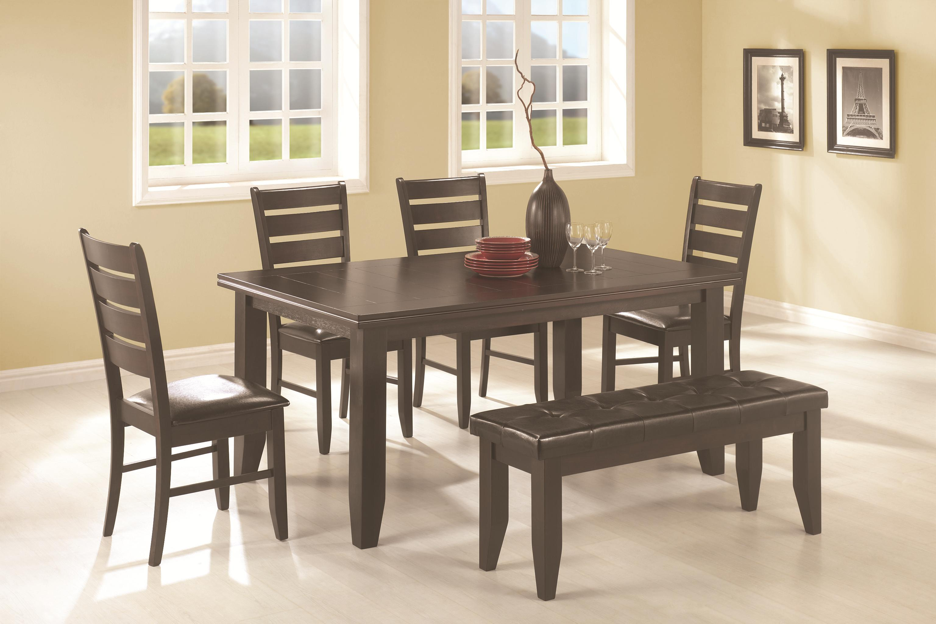 d216ca4b2e4a09 Coaster Page 6 Piece Dining Set | Dunk & Bright Furniture | Table ...
