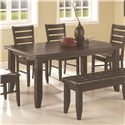 Coaster Page Contemporary Rectangular Semi-Formal Dining Table - 102721