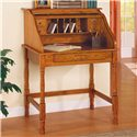 Coaster Palmetto Small Roll Top Secretary Desk - 5301N - Secretary Desk Shown with Roll Top Open