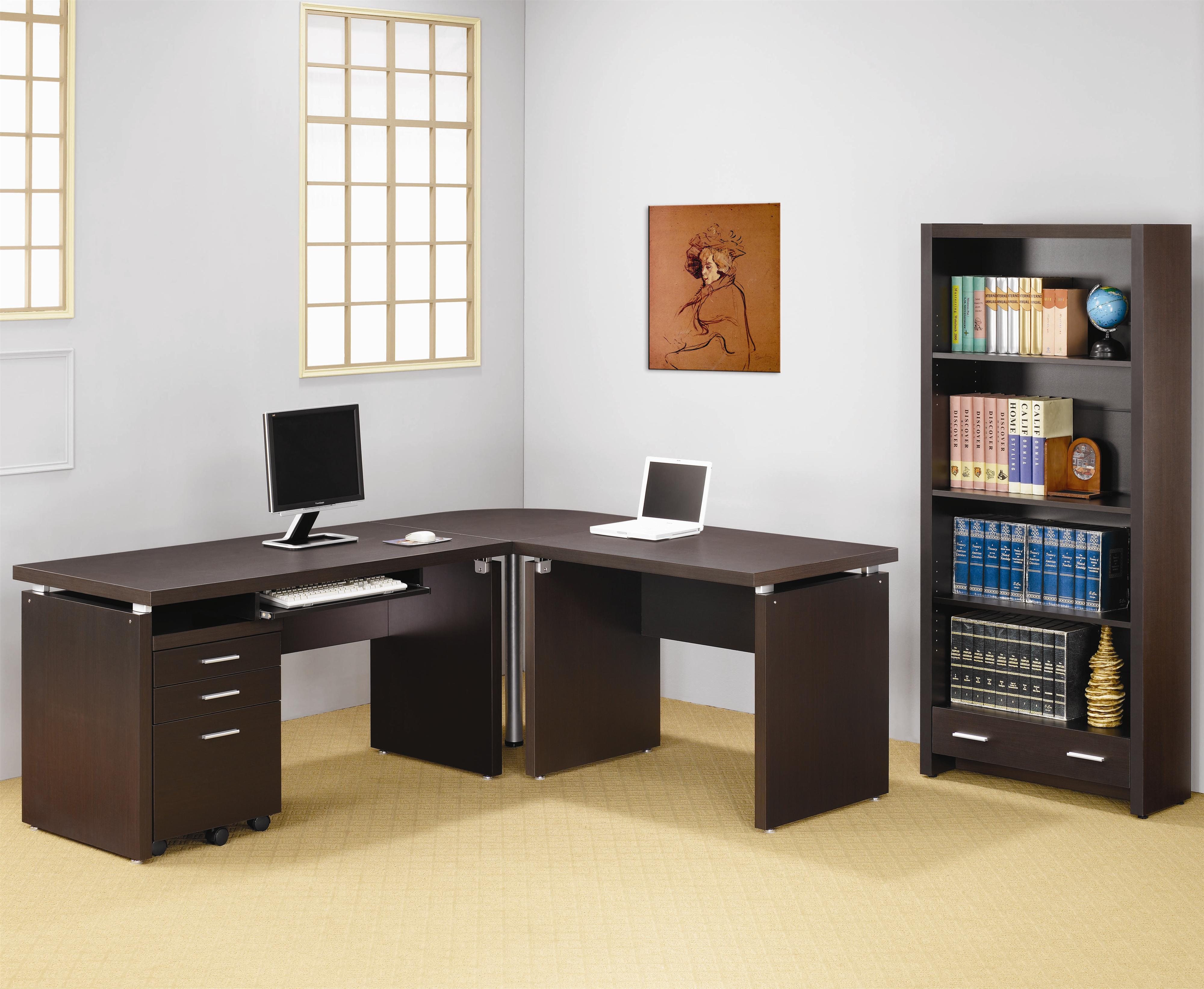 Coaster Skylar Contemporary L Shaped Computer Desk Value
