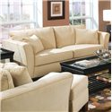 Coaster Park Place Contemporary Sofa with Flair Tapered Arms and Accent Pillows - 500231