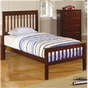 Coaster Parker Twin Slat Bed with Underbed Storage Drawer Unit - Shown without Optional Under Bed Storage Unit