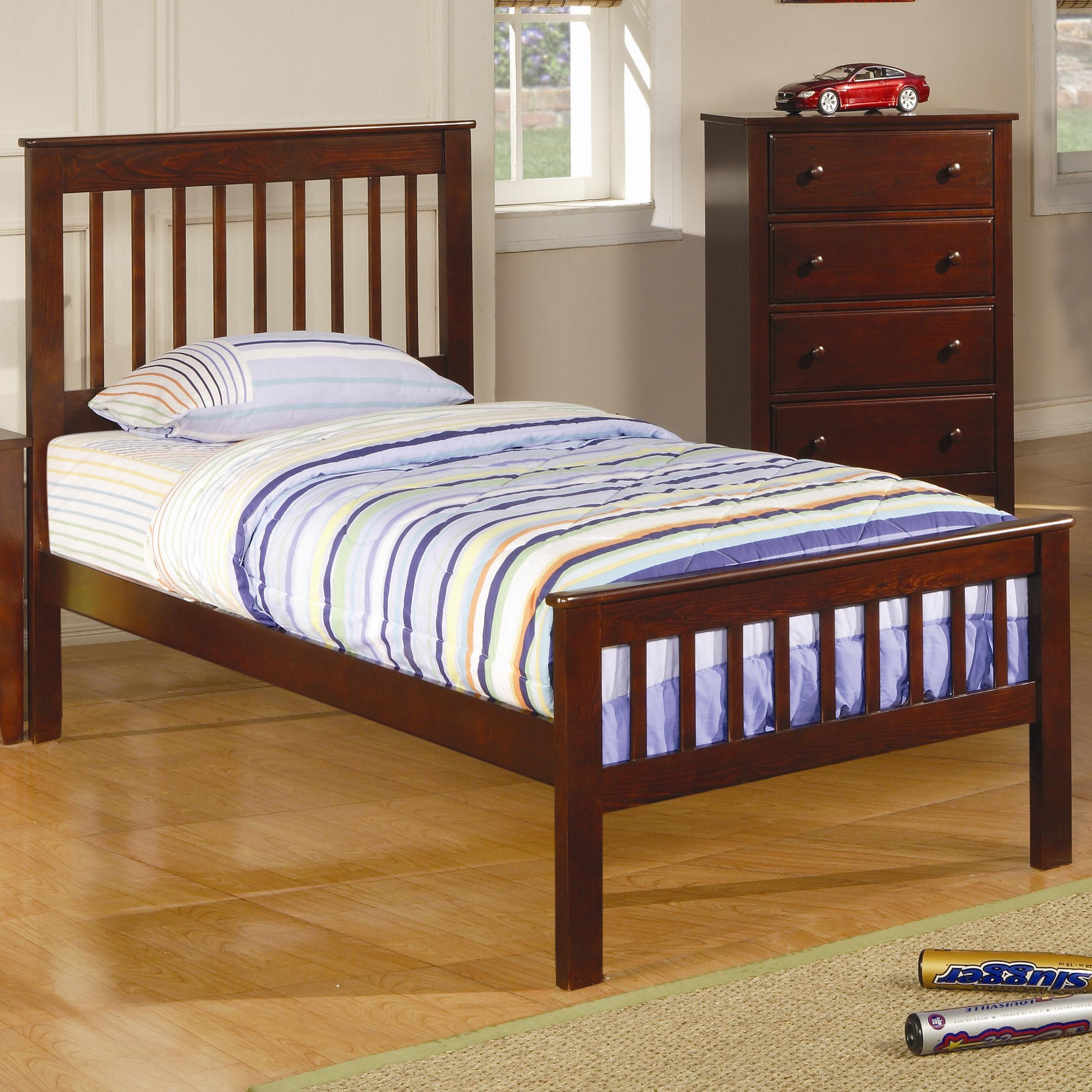 Coaster Parker Twin Slat Bed - Item Number: 400290T