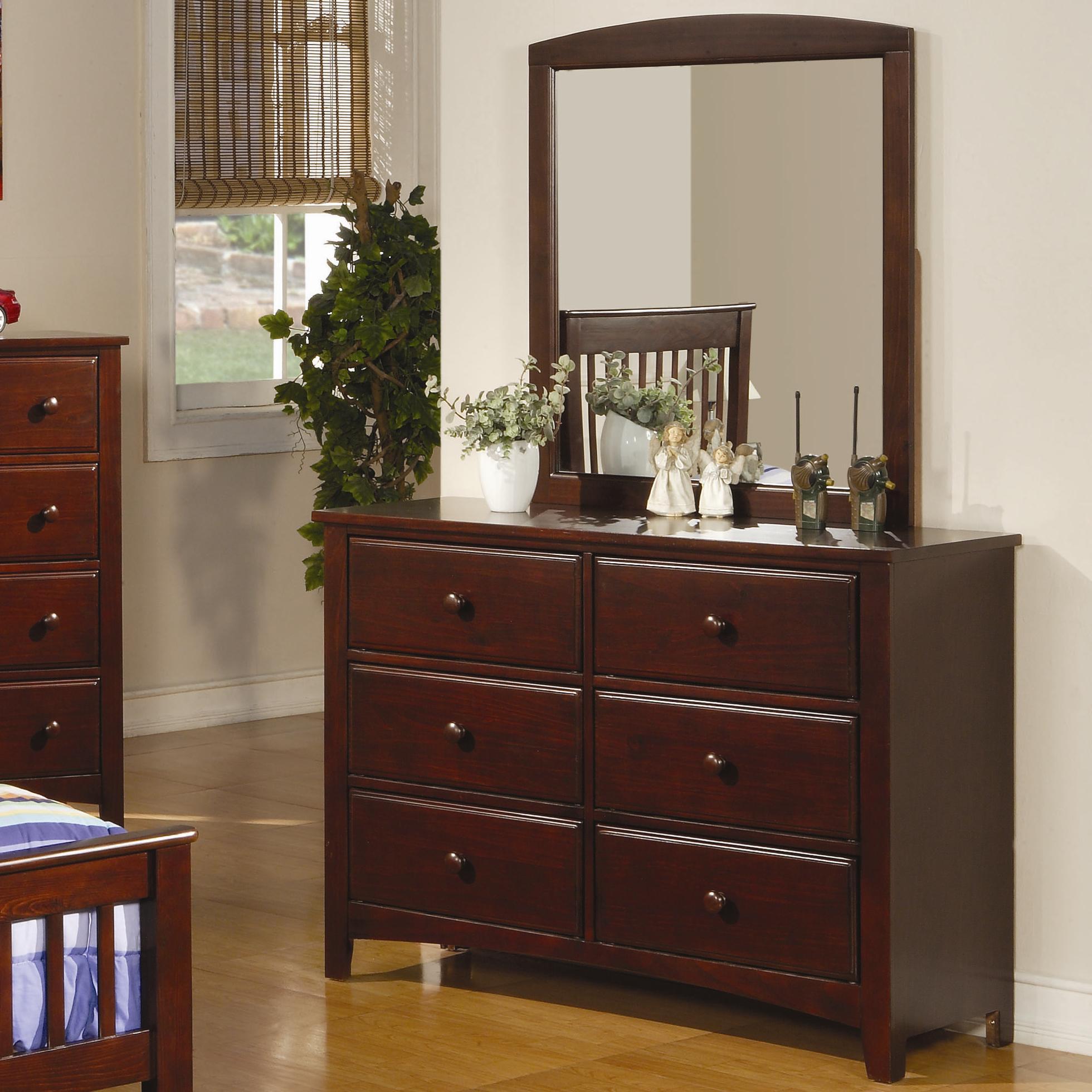 Coaster Parker Dresser and Mirror - Item Number: 400293+4