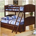 Coaster Parker Twin Over Full Panel Bunk Bed with Under Bed Storage Unit - 460212+400291S