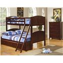 Coaster Parker Twin Over Full Panel Bunk Bed with Under Bed Storage Unit - Shown in Room Setting with Chest
