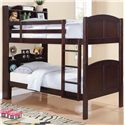 Coaster Parker Twin Bookcase Bunk Bed with Built-In Ladder - 460442