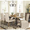 Coaster Parkins 7 Piece Dining Table and Chair Set - Item Number: 103711+2x713+4x712