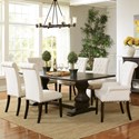 Coaster Parkins Table and Chair Set - Item Number: 107411+2x190163+4x190162