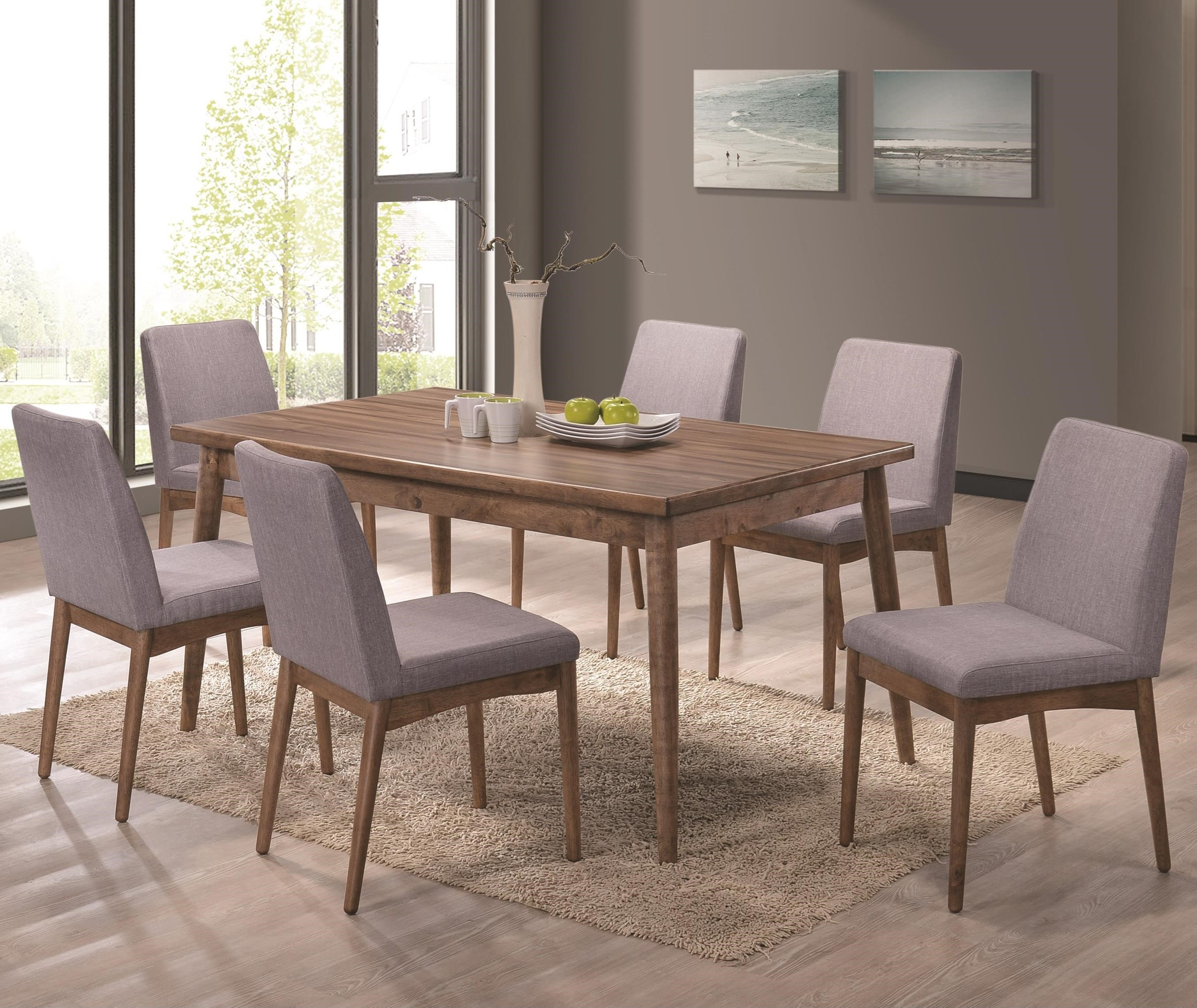 Coaster Pasquil Seven Piece Table And Chair Set Value City Furniture Dining 7 Or More