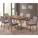 Coaster Pasquil 7 Pc Table and Chair Set - Item Number: 107321+6X107322