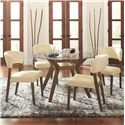 Coaster Paxton 12218 Round Dining Table Set - Item Number: 122180+CB48RD+4x122182