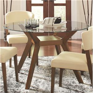 Coaster Paxton 12218 Round Glass Dining Table Value City Furniture