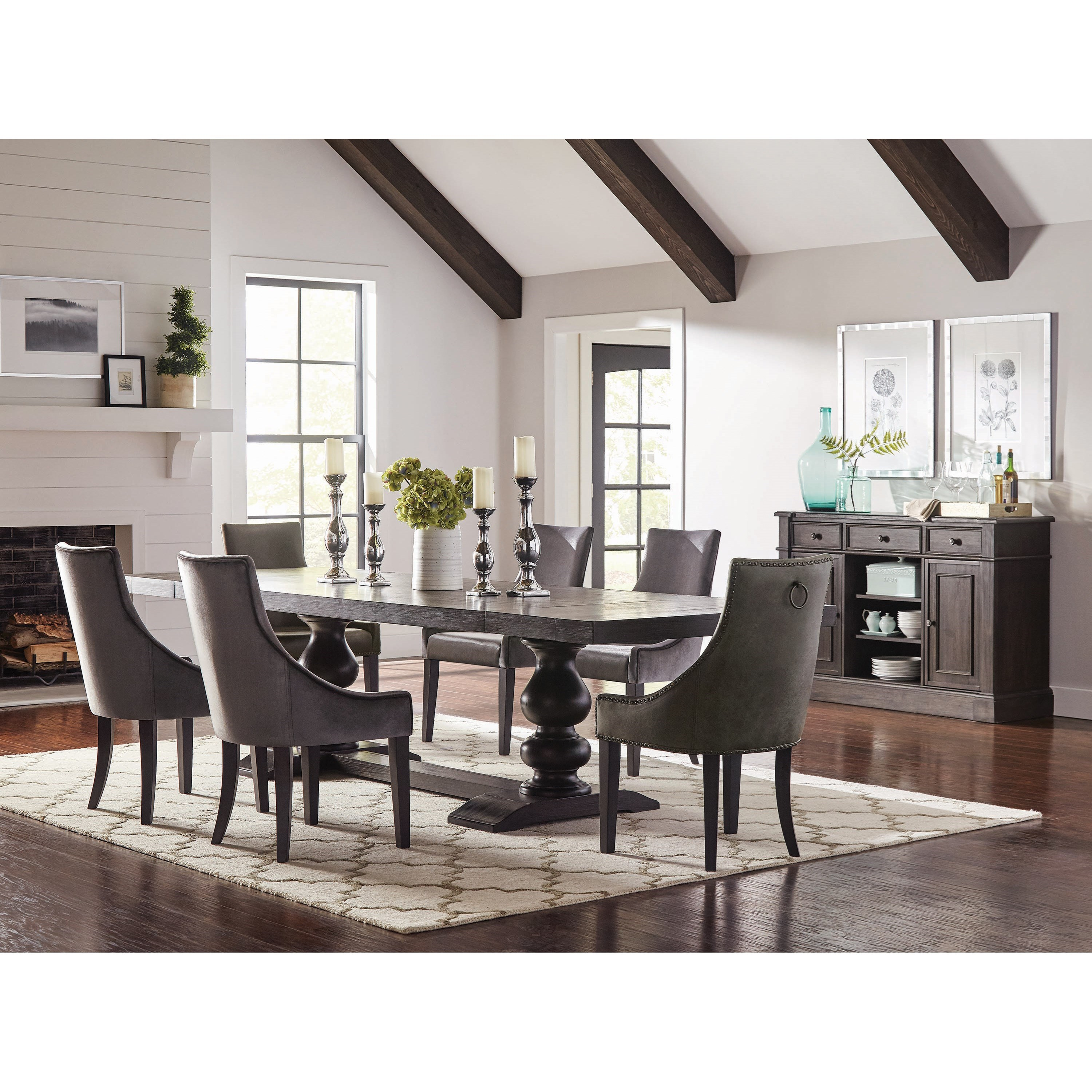 Rectangular Dining Room Tables With Leaves: Coaster Phelps Transitional Rectangular Dining Room Table