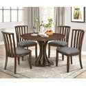 Coaster Prescott 5 Pc Casual Dining Set - Item Number: 107401+4X107402