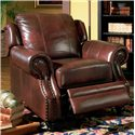 Coaster Princeton Rolled Arm Leather Recliner