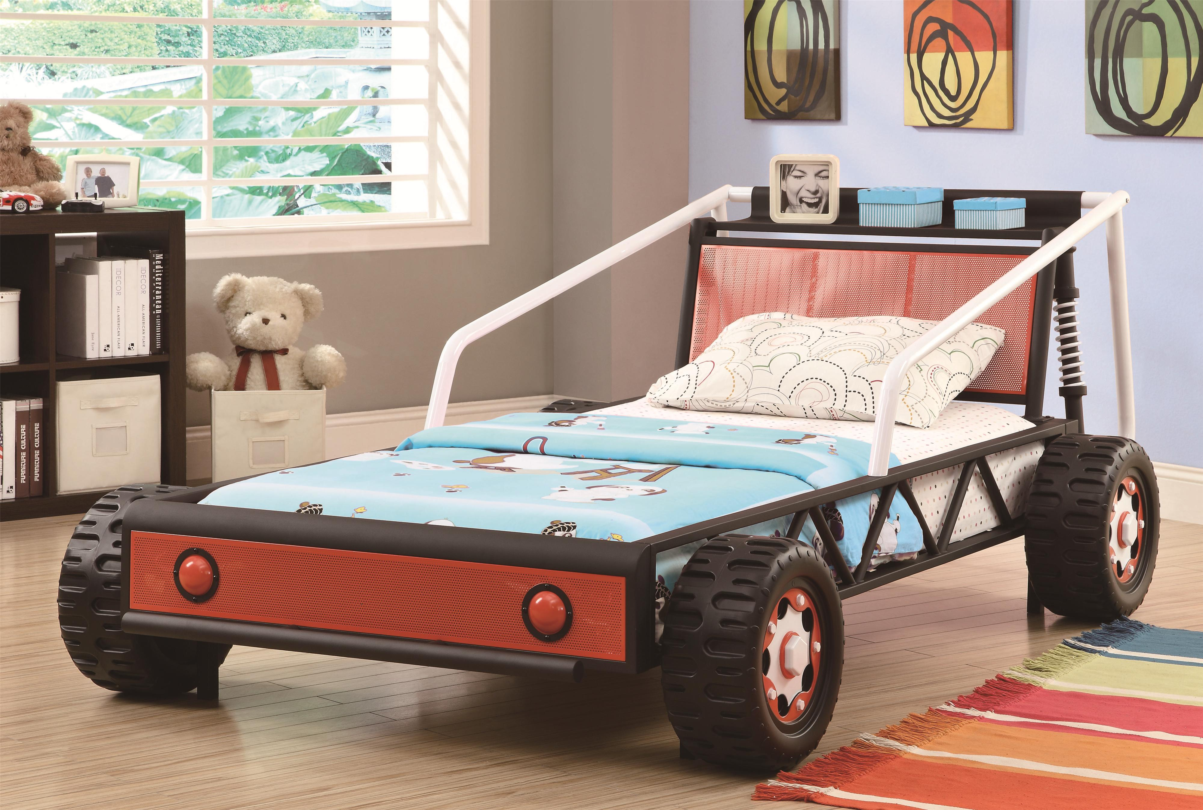 Coaster Novelty Beds Twin Size Race Car - Item Number: 400700