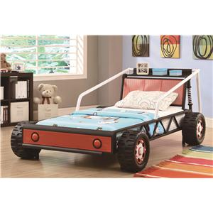 Coaster Novelty Beds Twin Size Race Car