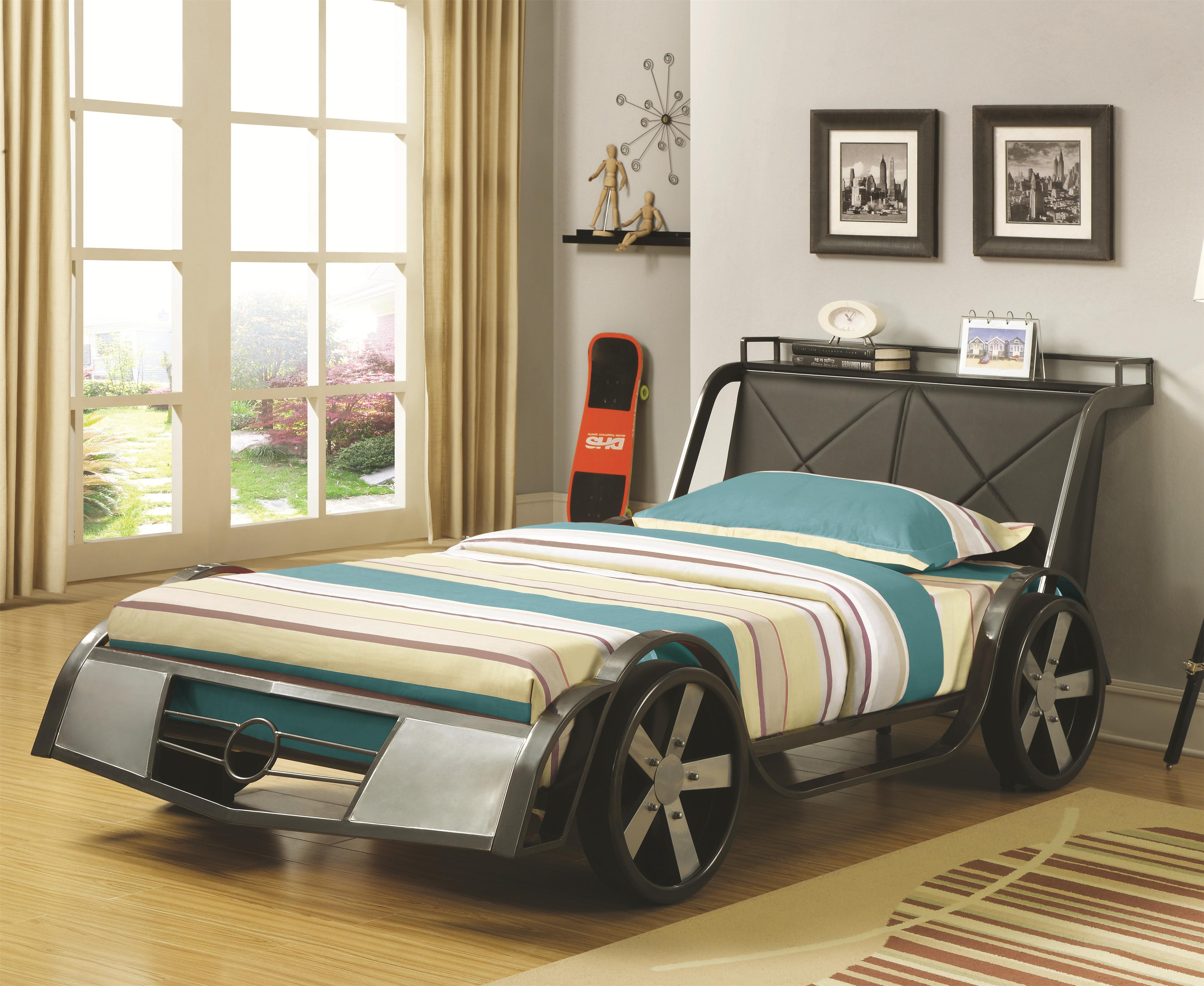 Great Coaster Novelty Beds Race Car Twin Bed   Item Number: 400701