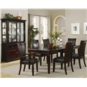 Coaster Ramona Formal Rectangular Dinner Table - Dinner Table Shown in Room Setting with Buffet and Hutch as well as Side and Arm Chairs