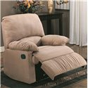 Coaster Recliners Casual Microfiber Recliner - 600264 - Shown in Light Brown