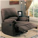 Coaster Recliners Casual Microfiber Recliner - Also Available in Chocolate