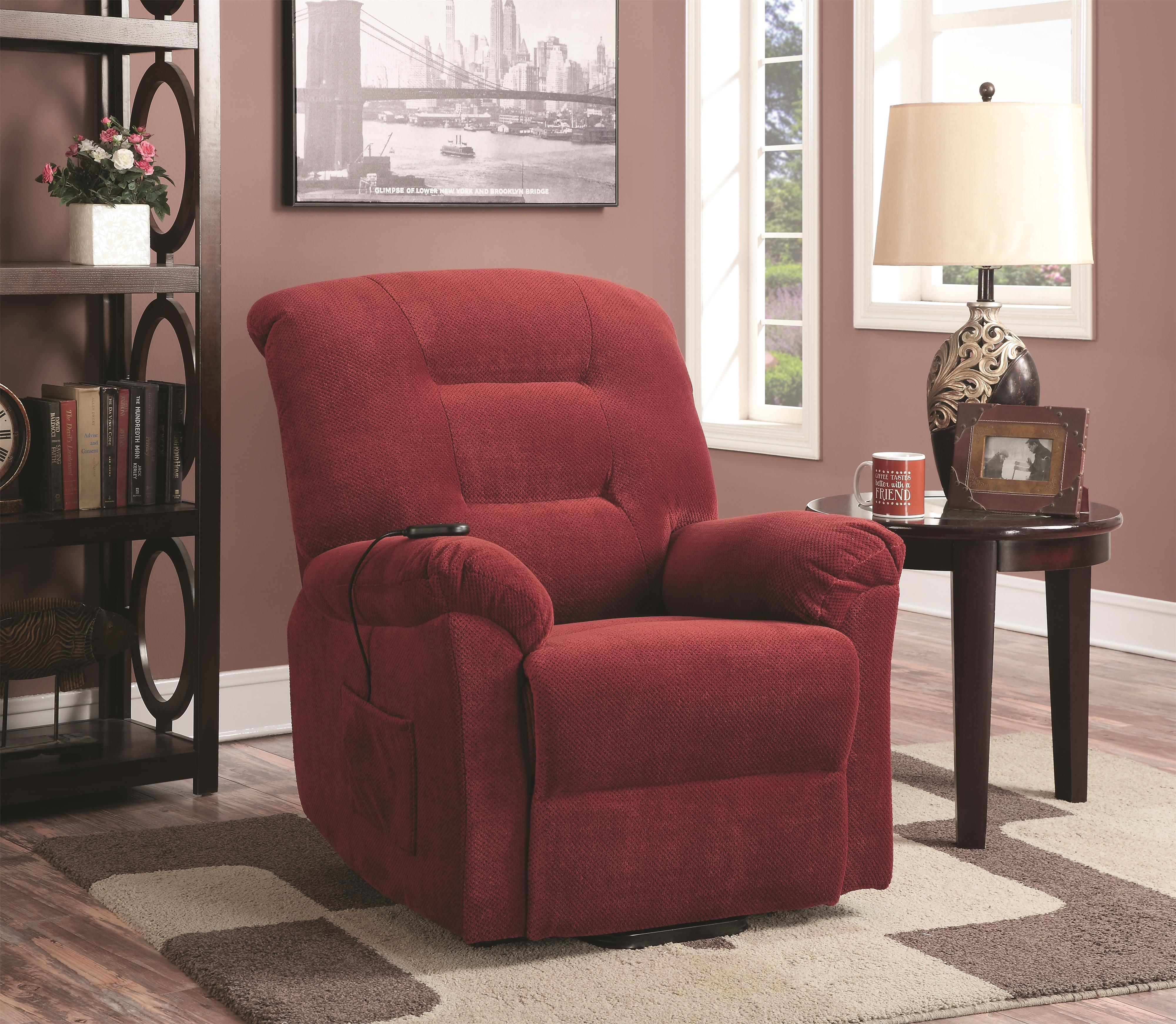 Coaster Recliners Power Lift Recliner - Item Number: 600400