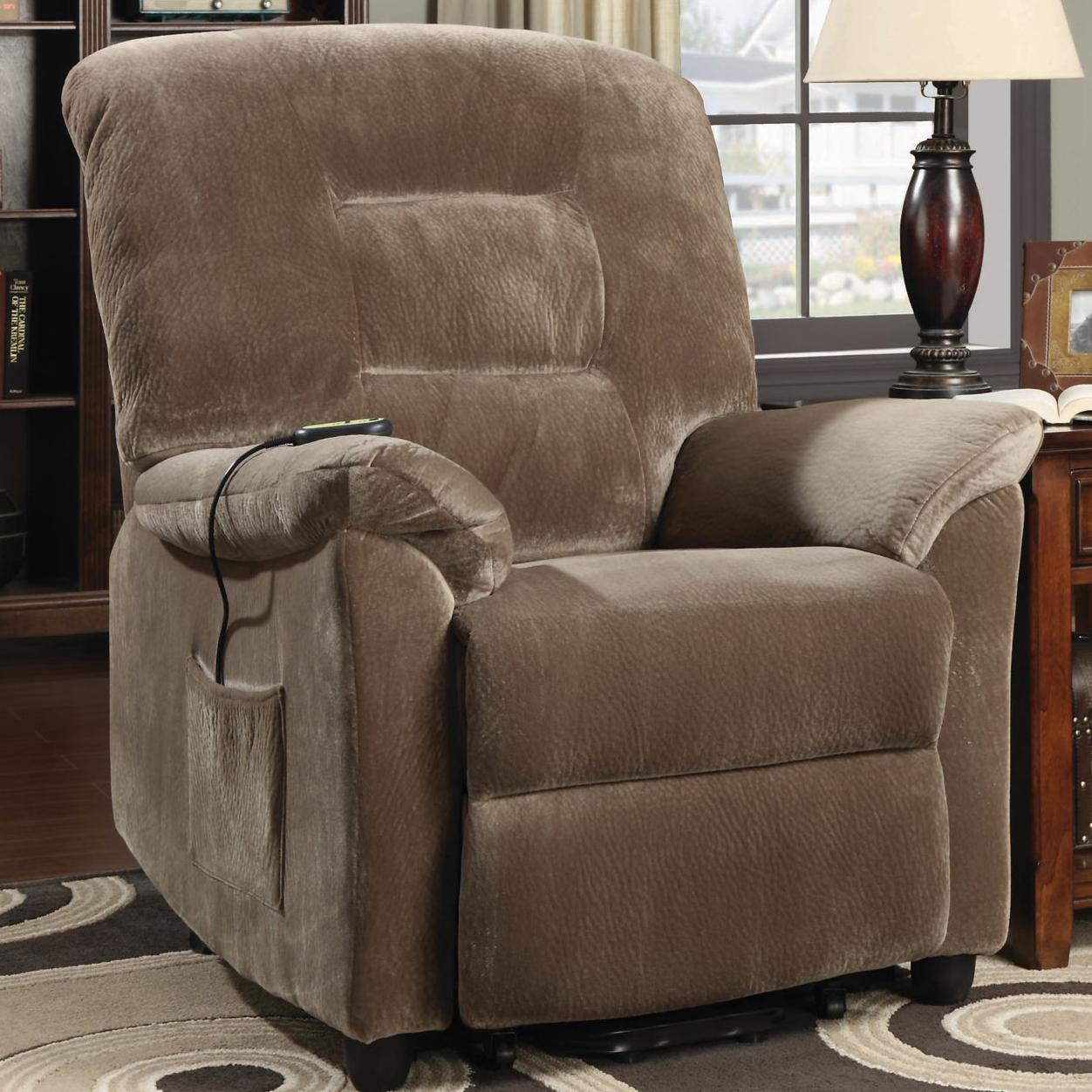 Coaster Recliners Casual Power Lift Recliner With Brown