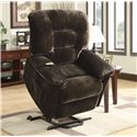 Coaster Recliners Casual Power Lift Recliner in Chocolate Upholstery