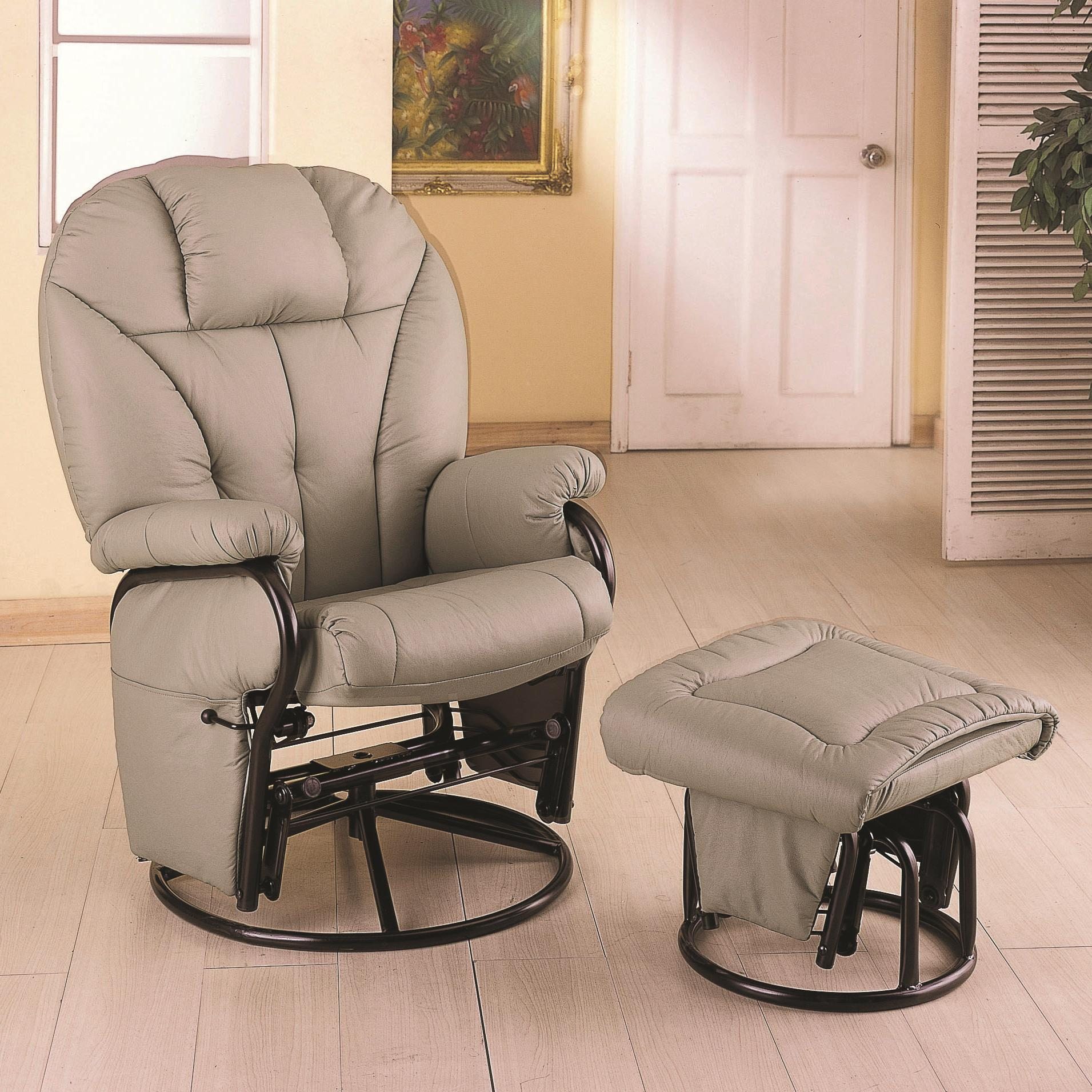 Coaster Recliners with Ottomans Recliner with Ottoman - Item Number: 2645