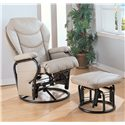 Coaster Recliners with Ottomans Glider Rocker with Round Base Ottoman - 2946 - Also Available in Bone
