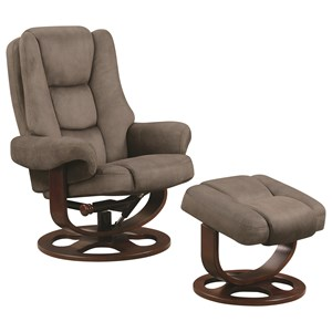 Coaster Recliners with Ottomans Chair With Ottoman