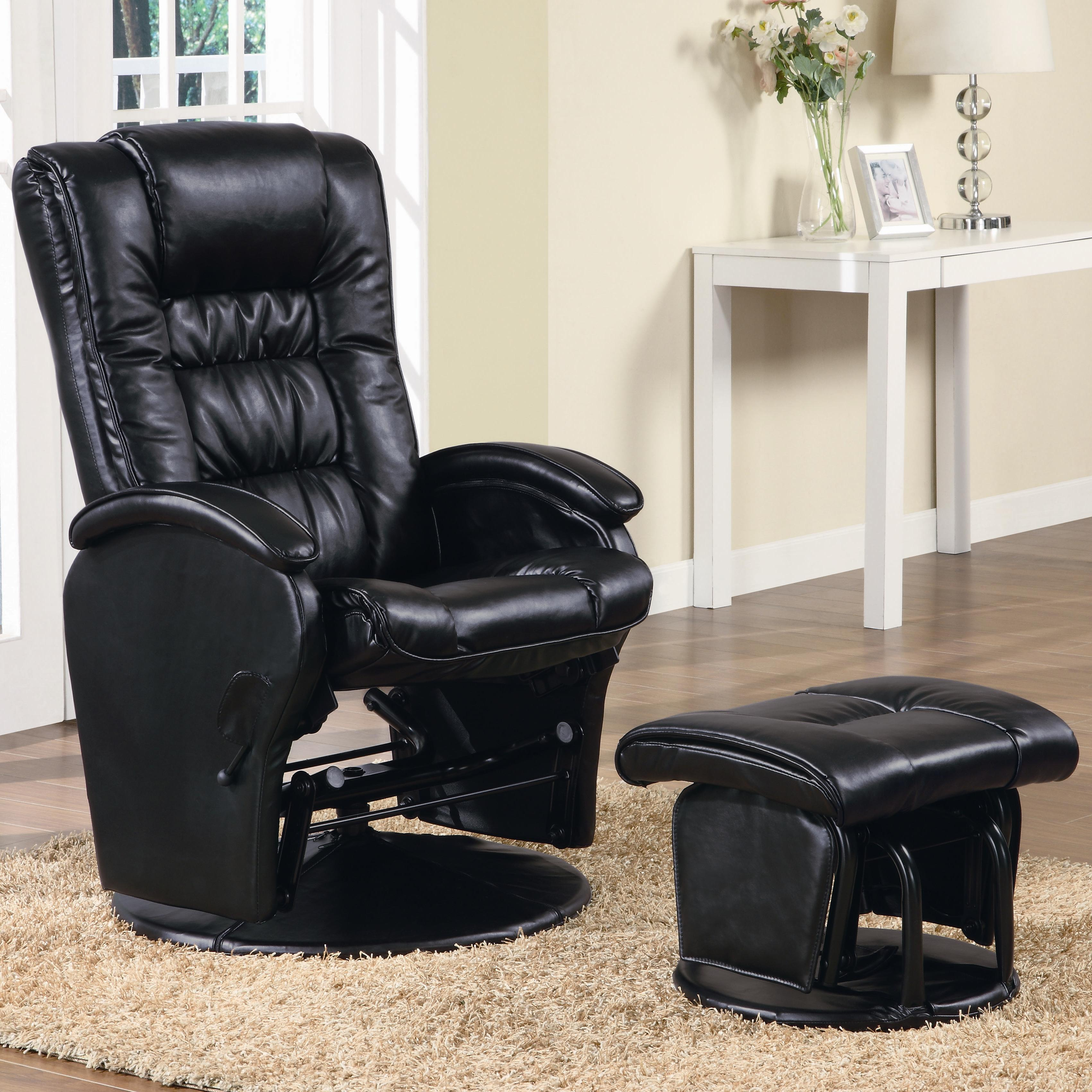 Pleasing Recliners With Ottomans Casual Leather Like Glider With Matching Ottoman By Fine Furniture At Del Sol Furniture Ibusinesslaw Wood Chair Design Ideas Ibusinesslaworg