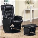 Coaster Recliners with Ottomans Glider Recliner with Ottoman - Item Number: 600154