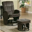Coaster Recliners with Ottomans Glider Recliner with Ottoman - Item Number: 600159