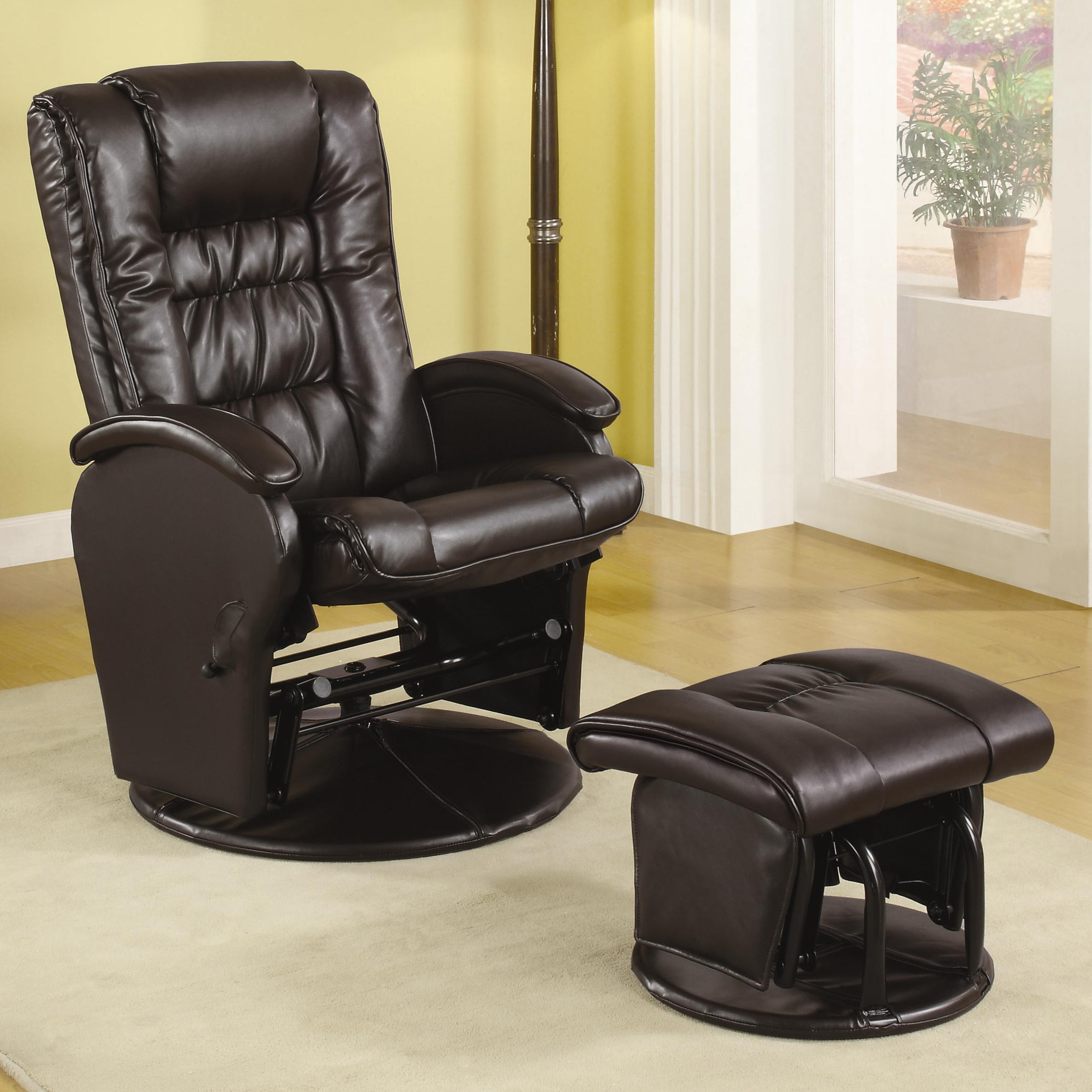 Coaster Recliners with Ottomans Glider Recliner with Ottoman - Item Number: 600164