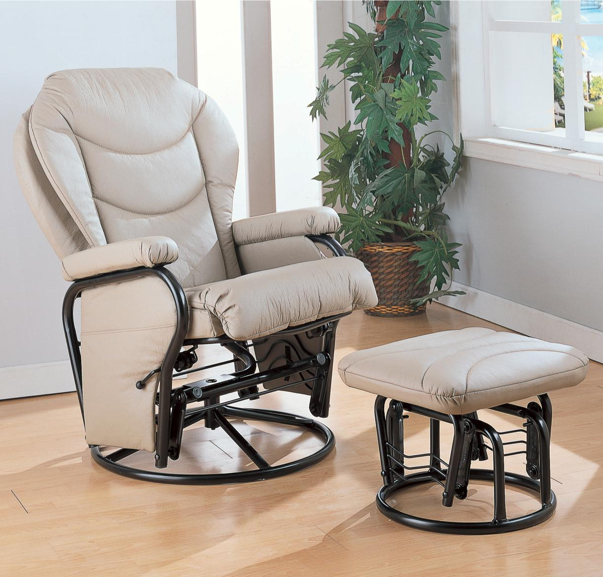 Coaster Recliners with Ottomans Recliner with Ottoman - Item Number: 7040