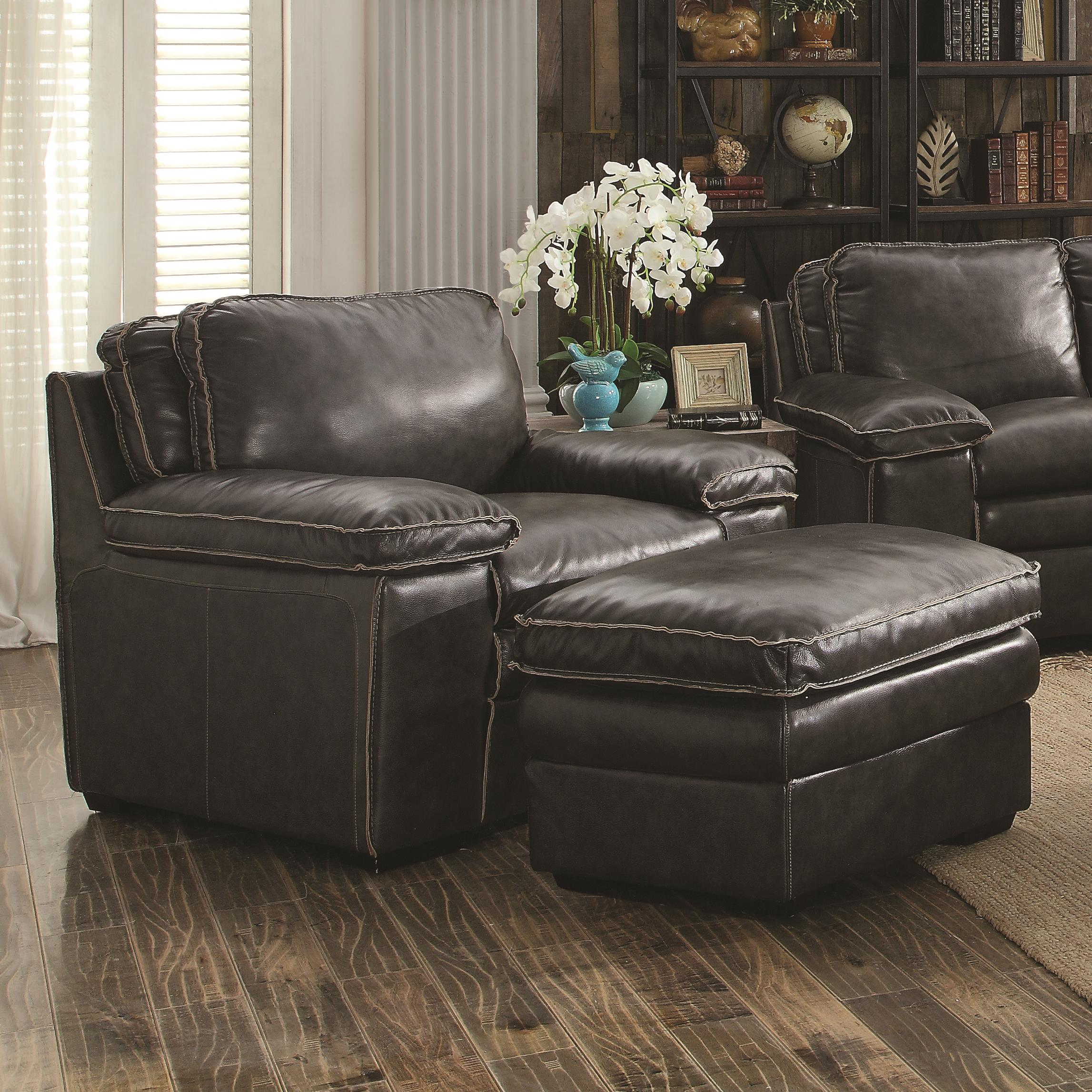 Coaster Regalvale Chair and Ottoman - Item Number: 505843+844
