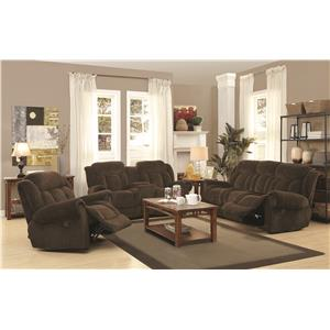 Coaster Reige Reclining Living Room Group