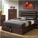Coaster Remington California King Bed w/ Upholstered Headboard - Bed Shown May Not Represent Size Indicated