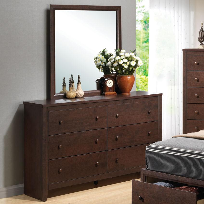 Coaster Remington Dresser and Mirror - Item Number: 202313+14