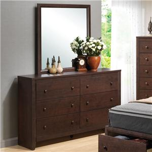 Coaster Remington Dresser and Mirror