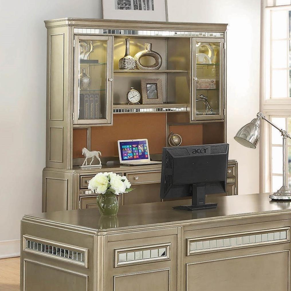 Coaster Ritzville 801971 Contemporary Credenza With Hutch