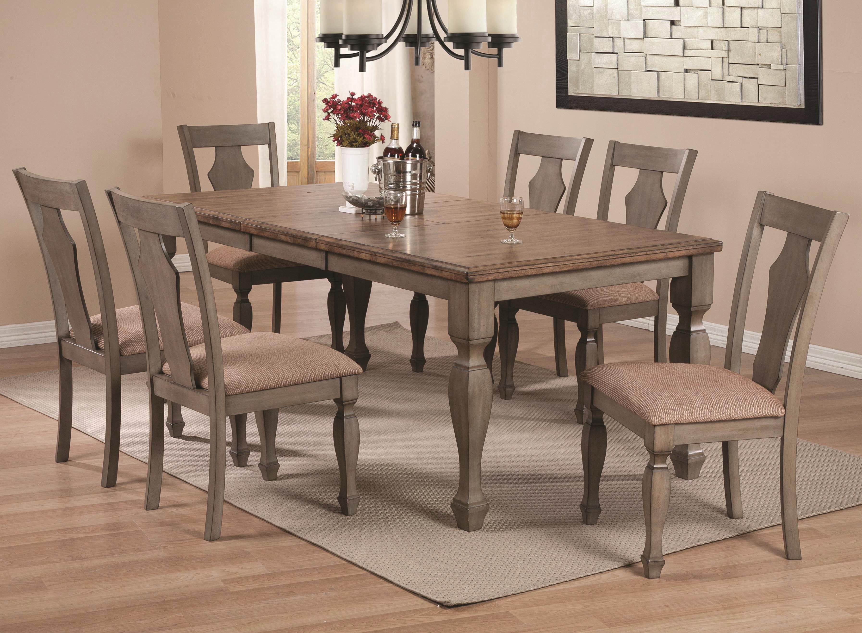 Coaster Riverbend 7-Piece Two-Tone Table Set - Item Number: 106301+6x106302