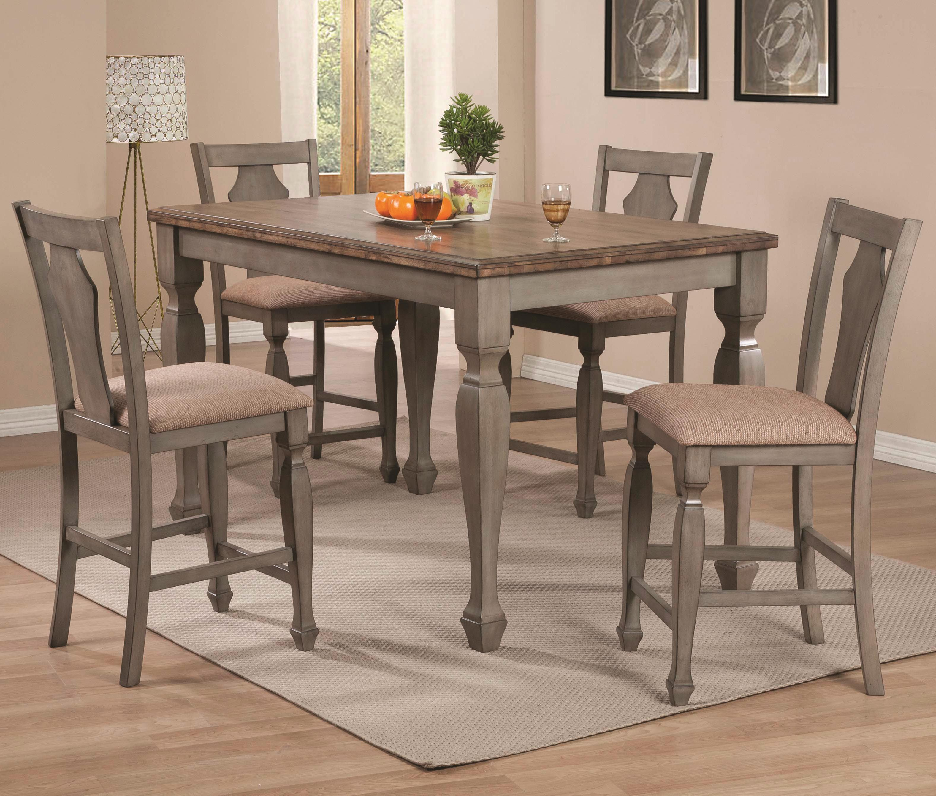 Coaster Riverbend 5-Piece Two-Tone Counter Table Set - Item Number: 106308+4x103609